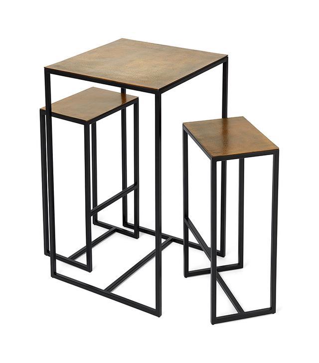 ABC Carpet & Home Brass Bar Table & Stools