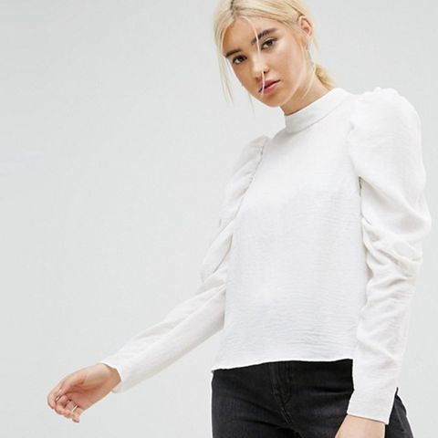 Boxy Top With Exaggerated Sleeves