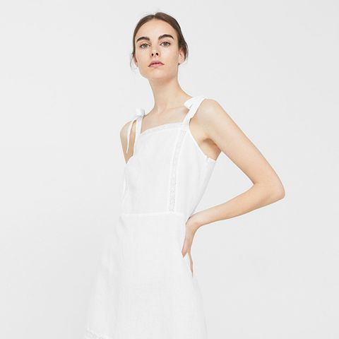 Bow Linen Dress