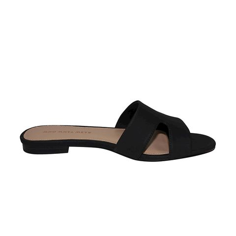 Carlie Faux Suede Slide Sandals