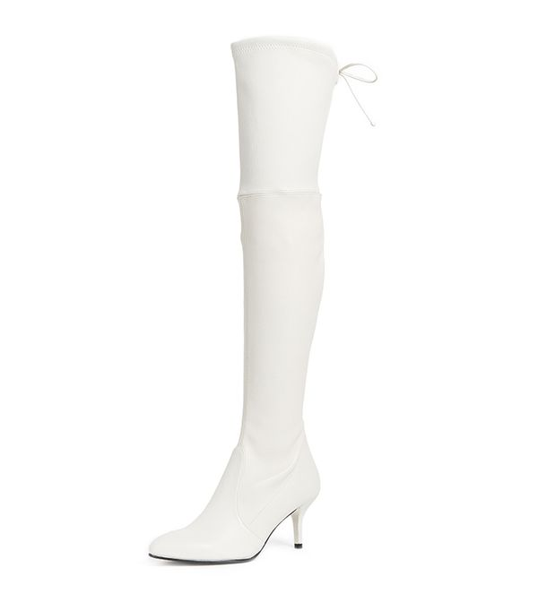 Tie Model Thigh High Boots