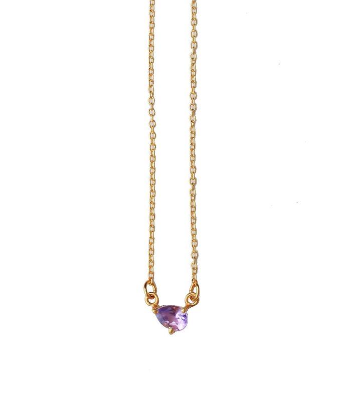 Lotus Petal Amethyst Necklace by Asha Patel