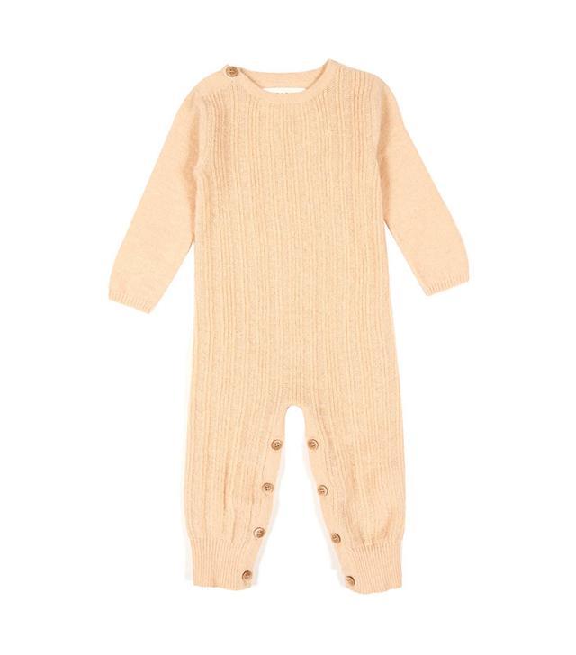 Aymara Evan Alpaca Wool Babygrow Peach