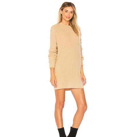 Suki Sweater Dress in Beige