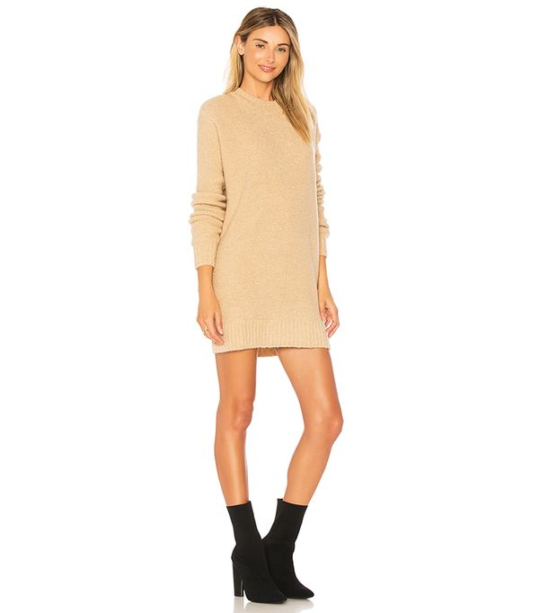 Suki Sweater Dress in Beige. - size M (also in L,S,XS)