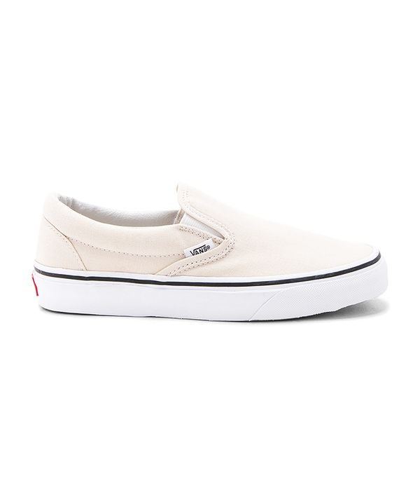 Classic Slip-On in Cream. - size 10 (also in 8,8.5,9.5)