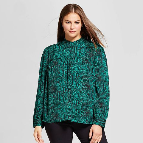 Long Sleeve Silky Doll Blouse