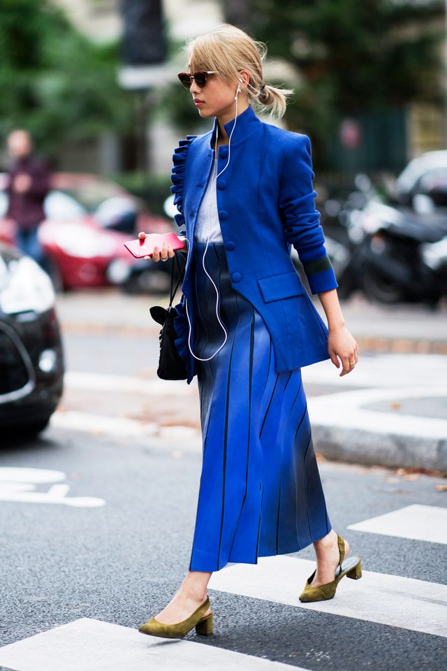 Margaret Zhang in Cobalt Blue