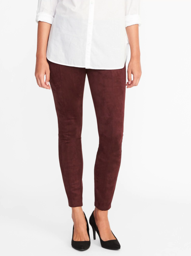 Old Navy Stevie Sueded Ponte-Knit Pants