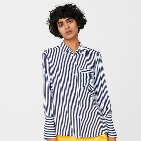 Striped Flowy Shirt