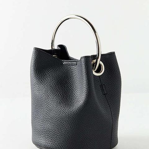 Ring Handle Mini Bucket Bag
