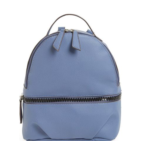 Textured Faux-Leather Mini Backpack