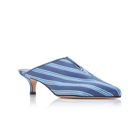 Dana Striped Twill Mules