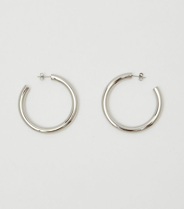 Bagatiba Silver Hollow Hoops
