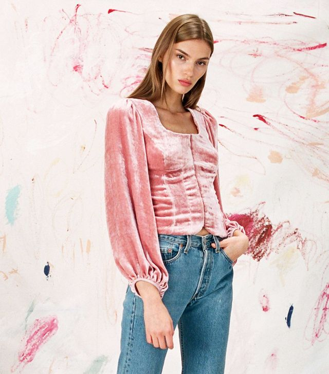 Staud Clemence Top Dusty Rose