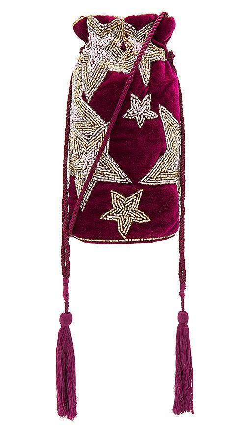 Astern Drawstring Bag in Purple.