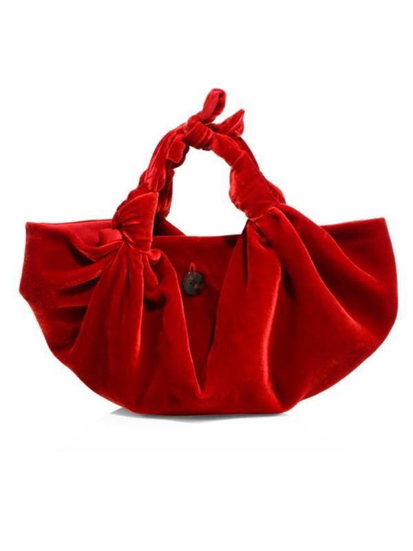 Ascot Velvet Small Hobo Bag