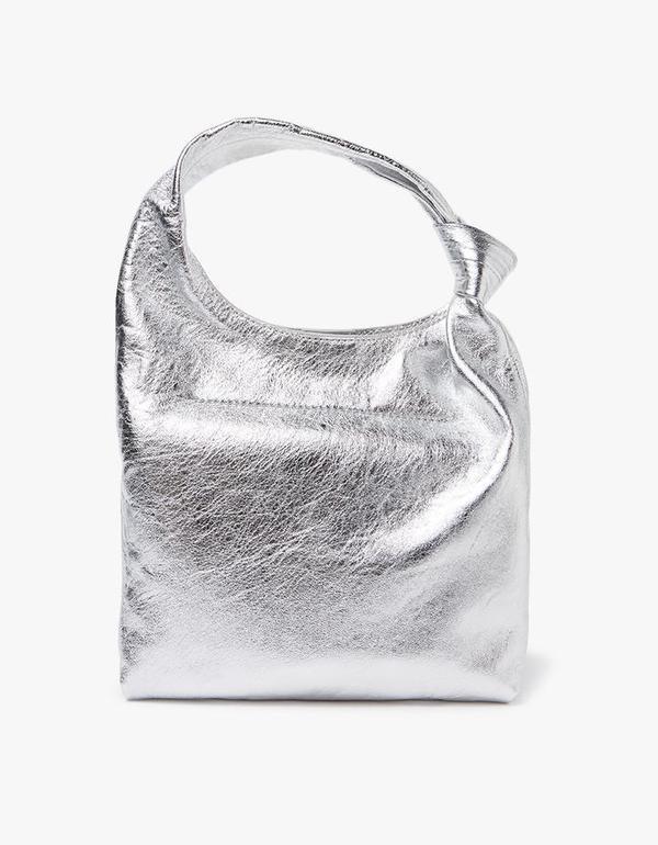 Mini Knot Tote in Silver