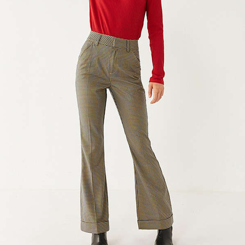 Checkered Flared Pant
