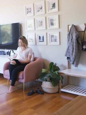 This Fashion Blogger's Apartment is a Sweet, Soft Pink Dream