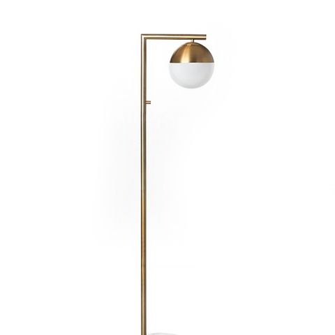 Geneva Glass Floor Lamp Single Globe
