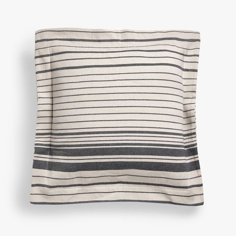 Striped Dyed Thread Cotton Cushion Cover