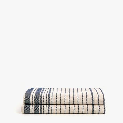 Striped Dyed Thread Cotton Bedspread
