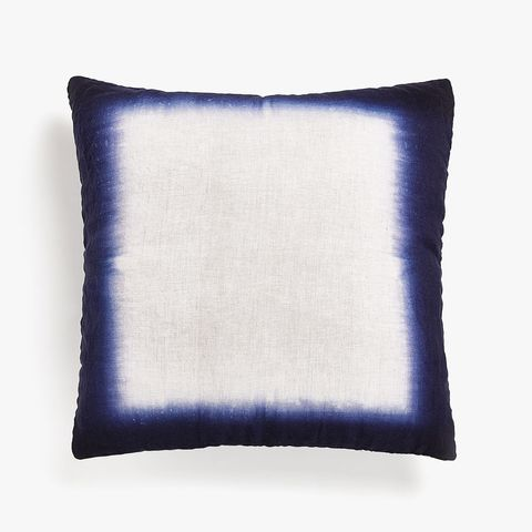Faded-Effect Linen Cushion Cover