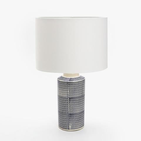 Blue Printed Ceramic Lamp