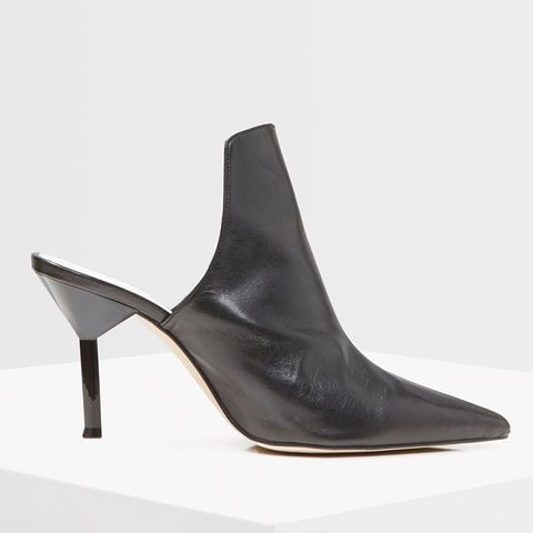 Premium Leather High-Front Mules