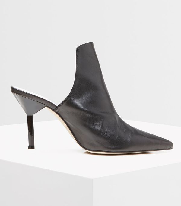 *Premium Leather High-Front Mules