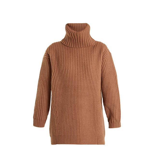 Disa oversized roll-neck wool sweater