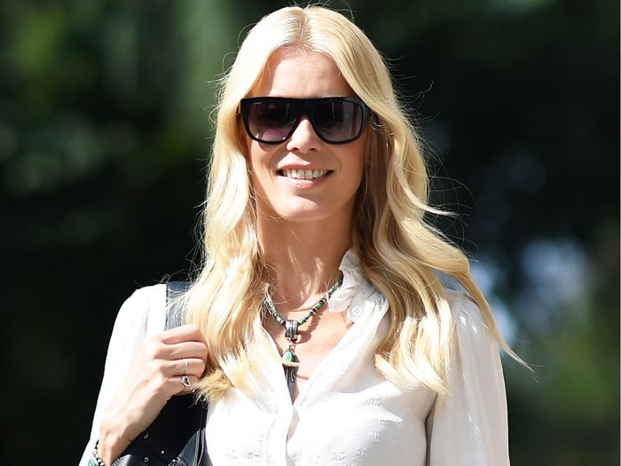 Claudia Schiffer Aquazzura Collaboration