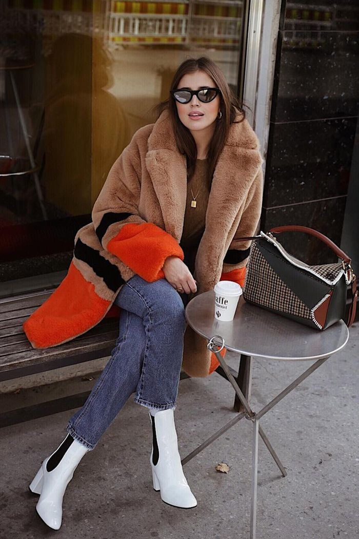 Best faux fur coats: Darja in brown coat