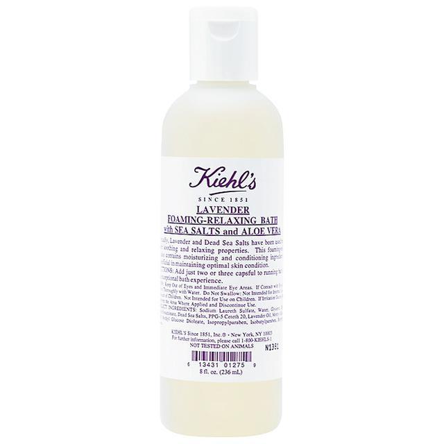 How to take a bath: Kiehl's Lavender Foaming-Relaxing Bath