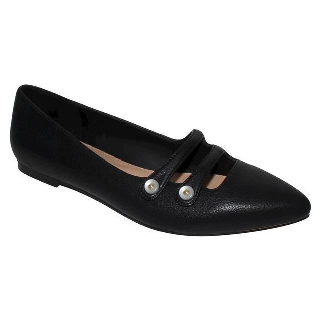 Aria Pearl Button Ballet Flats