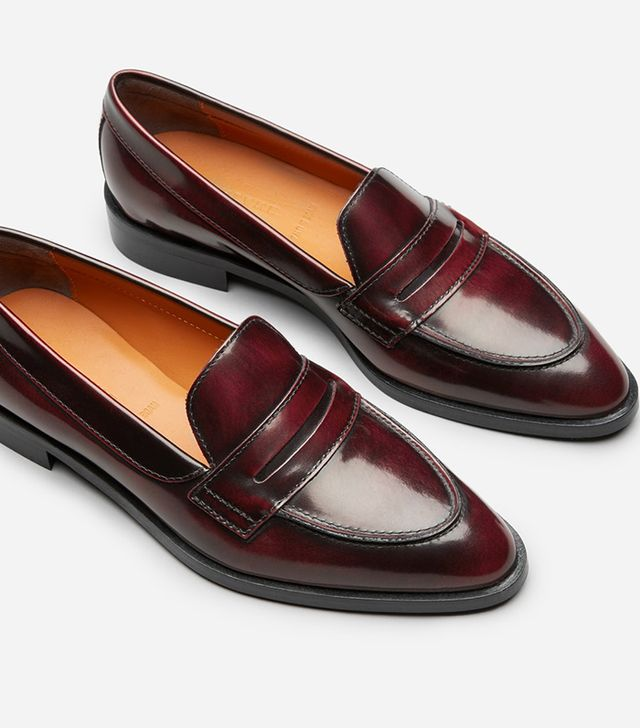 Women's Penny Loafers by Everlane in Oxblood, Size 11