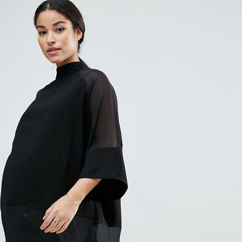 Sheer and Solid Oversize Tee