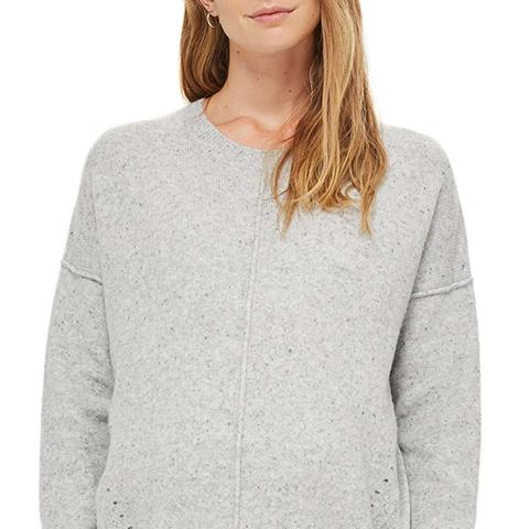 Pointelle Maternity Sweater