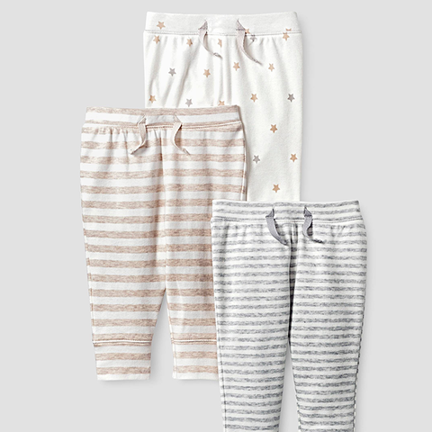 Baby Organic 3 Pack Pants Set