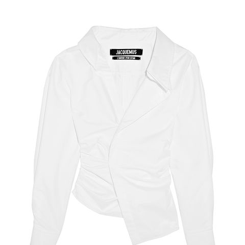 La Chemise Elie Asymmetric Cotton-Poplin Shirt