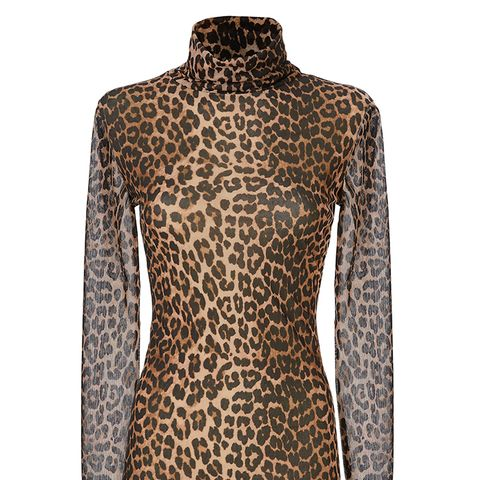 Tilden Leopard Mesh Turtleneck