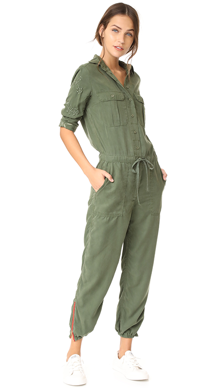 Marjan Army Embroidered Jumpsuit
