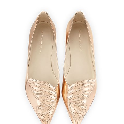 Bibi Butterfly Embroidered Flats