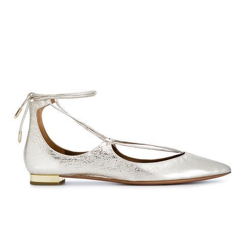 Gold Christy Ballet Flats