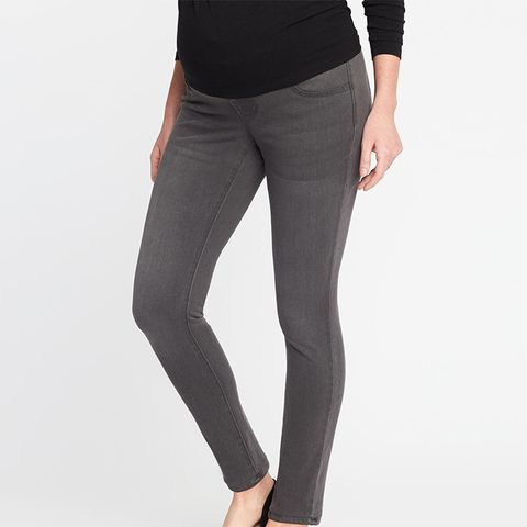 Maternity Low-Panel Rockstar 24/7 Jeggings
