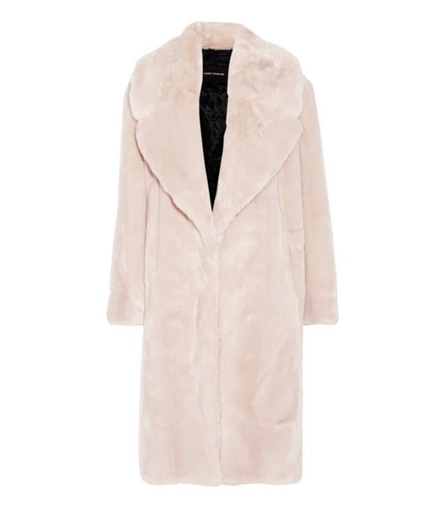 Bridal Jackets: Cédric Charlier Oversized Faux Fur Coat