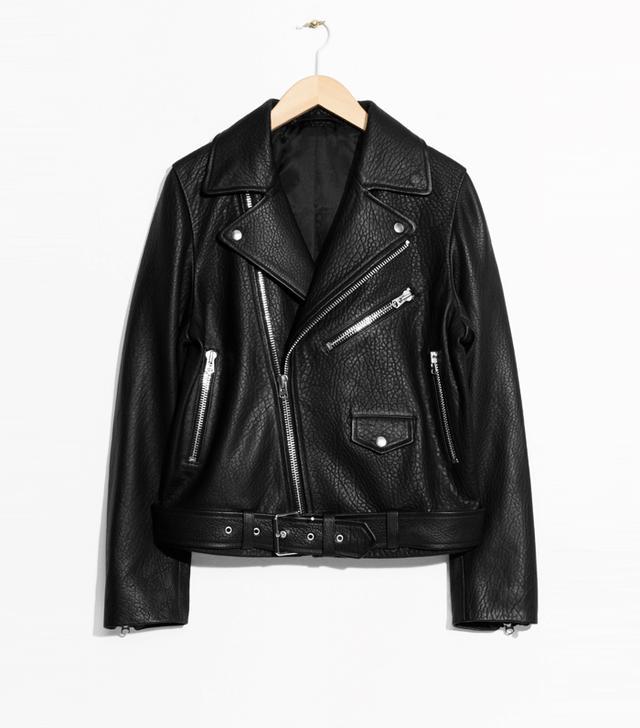 Bridal Jackets: & Other Stories Leather Biker Jacket