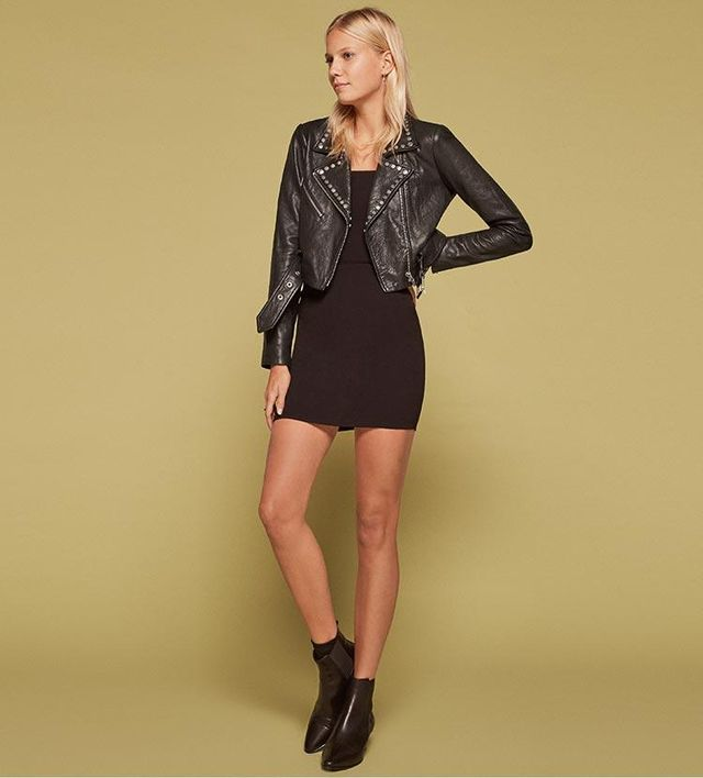 Veda Studded Leather Jacket