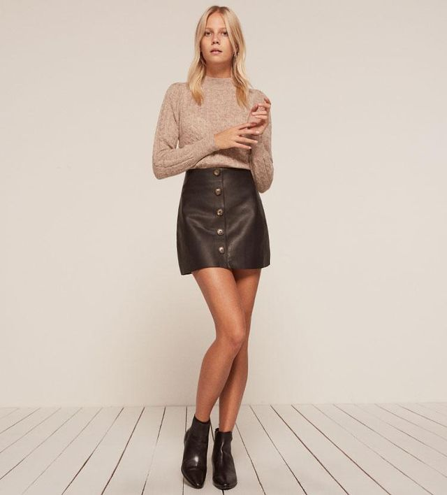 Veda Passito Leather Skirt